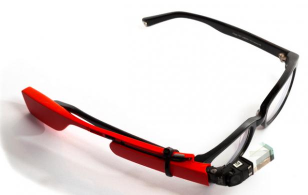 google glass on prescription glasses
