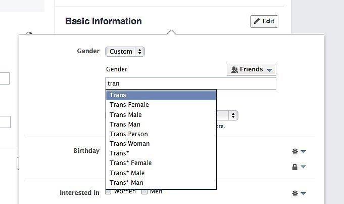 fb gender