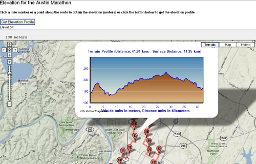 Elevation Plan Profile : Google maps launches elevation data for bike routes
