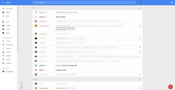 gmail interface
