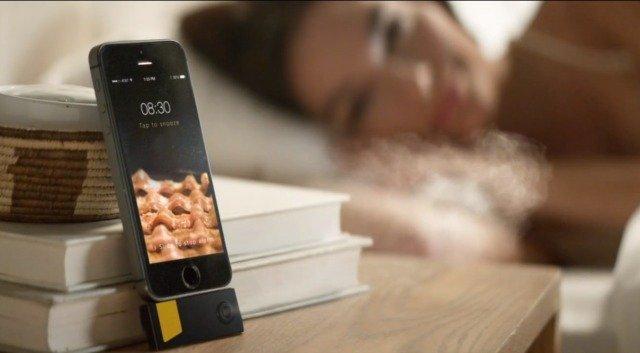 bacon scented alarm