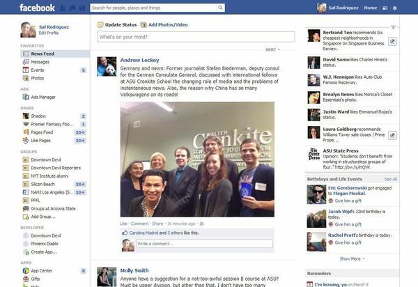 facebook feed design