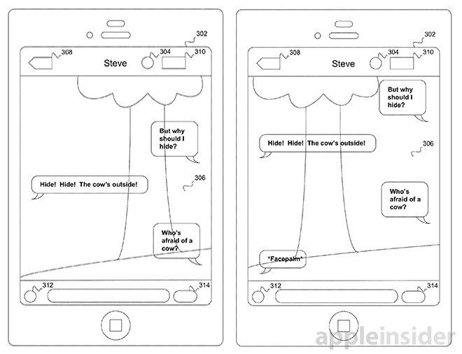 transparent texting patent
