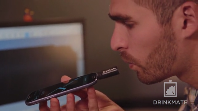 DrinkMate is a tiny plug in breathalyzer for Android