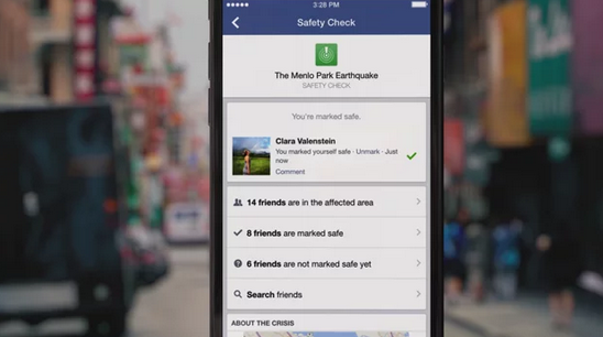 Facebook Launches Safety Check