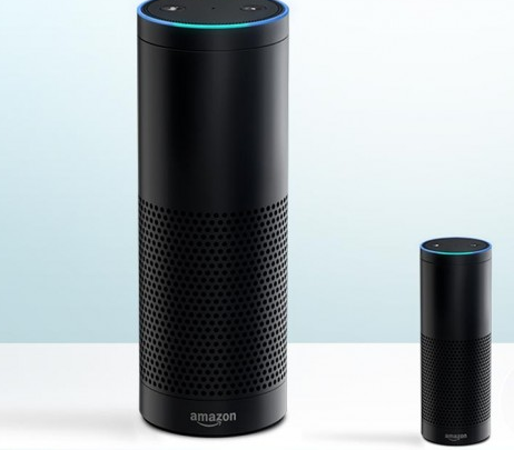 Amazon Echo Speaker Plays Music and Shops