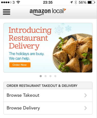 Amazon Begins Restaurant Delivery Service
