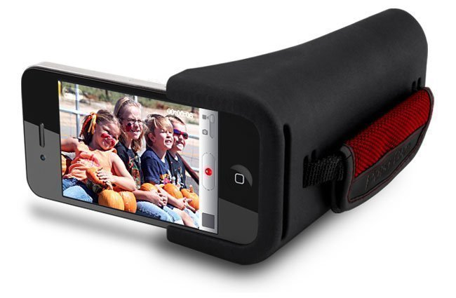PoiseCam Camera Grip for iPhone makes you device a camcorder for more stable videos