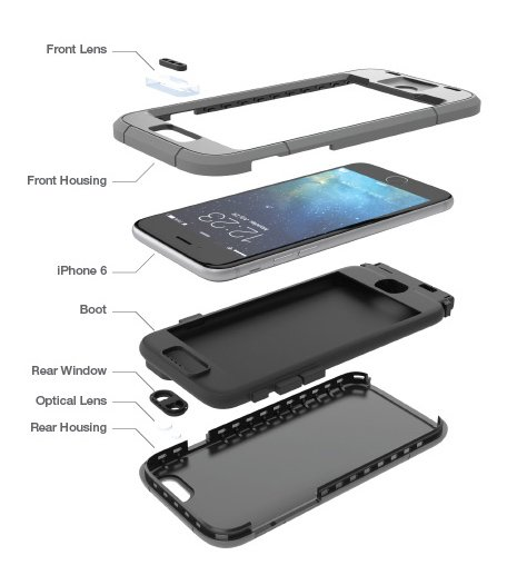 Dog & Bone Wetsuit iPhone 6 waterproof rugged case does as the name suggests