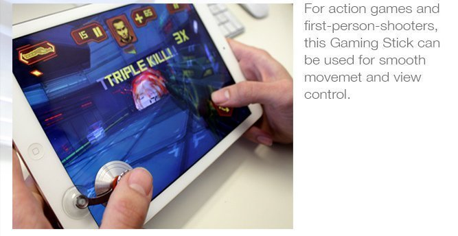 ScreenStick is an ultra sensitive joystick to play games on smartphones and iPad
