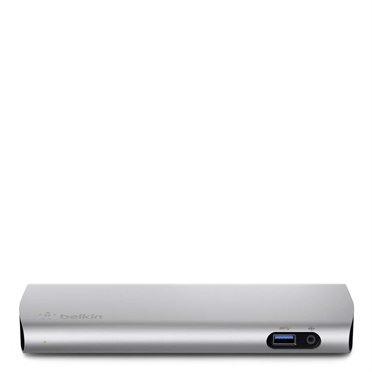 Belkin Thunderbolt 2 Express Dock allows to add up to 8 devices to a Thunderbolt port on your Macbook simultaneously