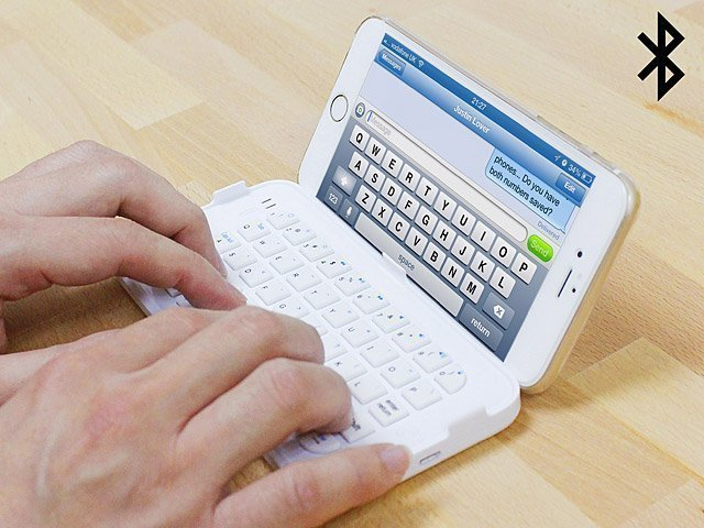 This Bluetooth keyboard for the iPhone 6 Plus doubles as a screen cover